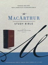 NASB MacArthur Study Bible, 2nd Edition, Comfort Print--soft leather-look, brown