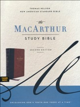 NASB MacArthur Study Bible, 2nd Edition, Comfort Print--soft leather-look, brown (indexed)