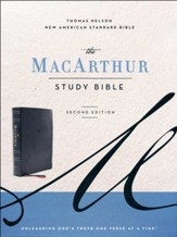 NASB MacArthur Study Bible, 2nd  Edition, Comfort Print--soft leather-look, black