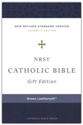 NRSV Catholic Bible, Gift Edition, Comfort Print, Leathersoft, Brown