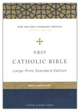 NRSV Catholic Bible, Large Print, Comfort Print, Leathersoft, Black