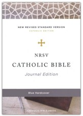 NRSV Catholic Bible, Journal Edition, Comfort Print, Cloth over Board, Blue