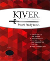 KJVer (Easy Reader) Giant Print Sword Study Bible, Genuine Leather Black