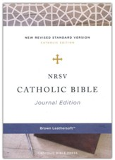 NRSV Catholic Bible, Journal  Edition, Comfort Print, Leathersoft, Brown