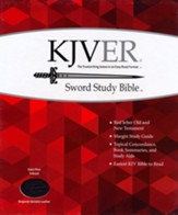 KJVer (Easy Reader) Giant Print Sword Study Bible, Genuine Leather Burgundy, Thumb Indexed