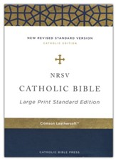 NRSV Catholic Bible, Large Print, Comfort Print, Leathersoft, Red