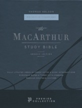 NASB MacArthur Study Bible, 2nd Edition, Comfort Print--premier goatskin leather, brown