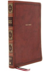 KJV Giant-Print Thinline Bible, Comfort Print--soft leather-look, brown (red letter)