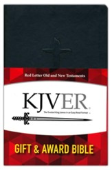 KJVER Gift and Award Thinline Personal Size, imitation leather, black