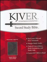 KJVer Sword Study Bible, Personal Size Large Print Designer Charcoal Ultrasoft imitation leather