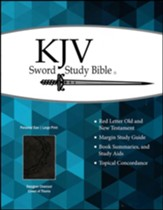 KJV Sword Study Bible - Personal Size Large Print Designer Charcoal Ultrasoft imitation leather