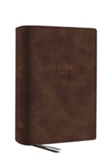 The NET Abide Bible, Comfort Print--soft leather-look, brown