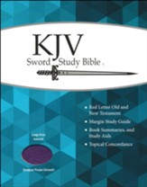 KJV Personal-Size Large-Print Sword Study Bible--soft leather-look, purple (indexed)