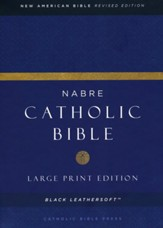 NABRE Large-Print Catholic Bible--soft leather-look, black