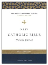 NRSV Catholic Thinline Bible, Comfort Print--soft leather-look, black