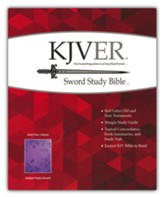 KJVer (Easy Reader) Giant-Print Sword Study Bible--soft leather-look, purple (indexed)