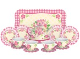 Fancy Tin Tea Set, 15 Pieces