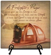 Firefighter Prayer, Easel Plaque