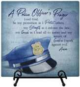 Police Officer Prayer, Easel Plaque