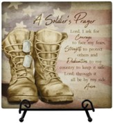 Soldier Prayer, Easel Plaque