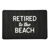 Retired To the Beach Floor Mat