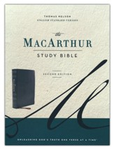 ESV MacArthur Study Bible, 2nd Edition--soft leather-look, black