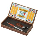 Teaching is a Work of Heart Keyring and Pen Gift Set