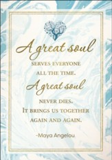 A Great Soul, Maya Angelou, Sympathy Cards, Box of 6