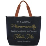 I'm A Woman Phenomenally Phenomenal Woman Canvas Tote Bag