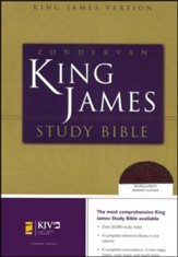 KJV Zondervan Study Bible, Bonded leather, Burgundy, Thumb-Indexed