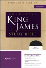 KJV Zondervan Study Bible, Bonded leather, Black, Thumb-indexed