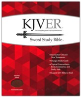 KJVer Giant-Print Sword Study  Bible--bonded leather, acorn (indexed)