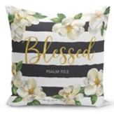 Blessed, Magnolia, Pillow Cover