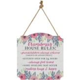 Grandma's Rules Metal Sign