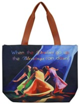 Praises Go Up Canvas Totebag