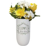 Love Lives Here Vase