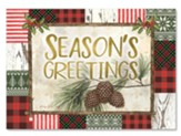 Season's Greetings, Pine Cones, Christmas Cards, Box of 15