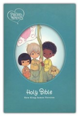 NKJV Precious Moments Small Hands Bible, Comfort Print--hardcover, teal