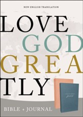 NET Love God Greatly Bible and Journal, 2 Books