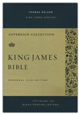 KJV Personal-Size Sovereign Collection Bible, Comfort Print--genuine leather, black