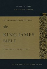KJV Personal-Size Sovereign  Collection Bible, Comfort Print--genuine leather, black (indexed)