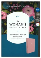 NIV Woman's Study Bible, Comfort  Print--cloth over board, pink