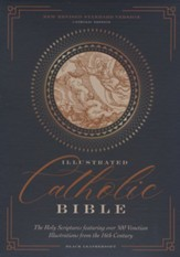NRSVCE Illustrated Catholic Bible,  Comfort Print--soft leather-look, black