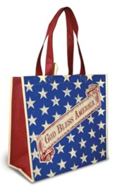God Bless America Eco Tote Bag, Scroll