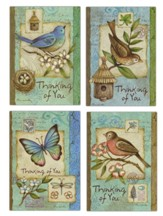 Bluebirds & Robins - Thinking of You Cards, Box of 12
