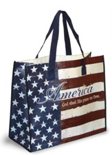 America, God Shed His Grace On Thee Tote Bag