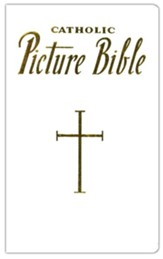 New Catholic Picture Bible, White Bonded Leather