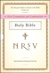 HarperCollins Catholic Gift Bible, White: First Communion and Confirmation - Imperfectly Imprinted Bibles