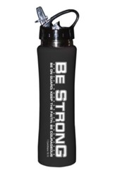 Be Strong Sports Bottle, Black