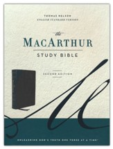 ESV MacArthur Study Bible, 2nd Edition--genuine leather, black